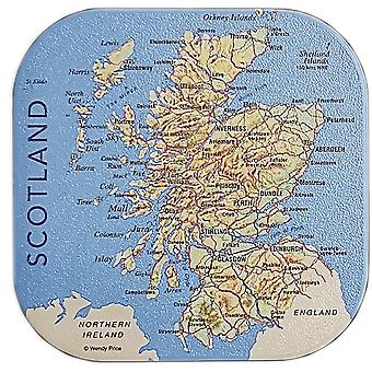 Scotland Map Coaster by Colin Baxter Photography