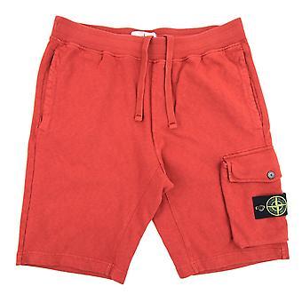 Stone Island 65860 Garment Dyed Shorts Brick Red V0036