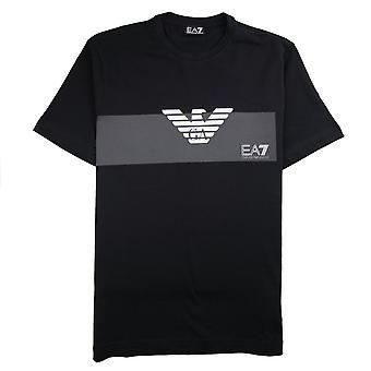 EA7 Emporio Armani Eagle Block Logo T-Shirt Black