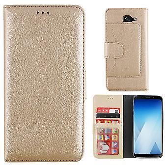 Wallet Case PU voor Samsung A5 2017 in Goud