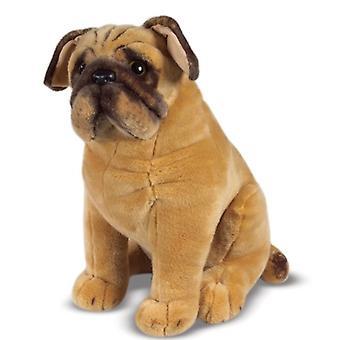 Melissa & Doug Pug Dog - bicho de pelúcia realista do