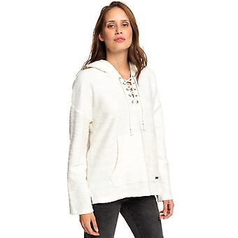 Roxy Young Womens skulle du tro poncho hoodie-Snövit