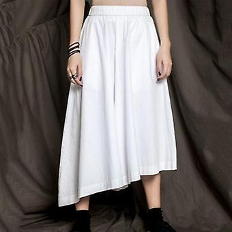 High Elastic Waist Irregular Pleated Wide-leg Pants