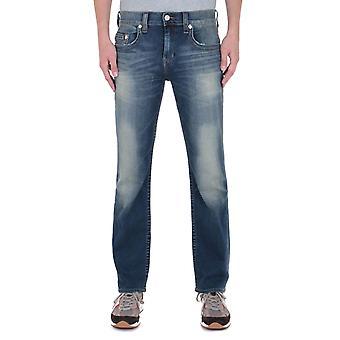 Prawdziwa religia Ricky Regularne Fit Blue Wash Jeans