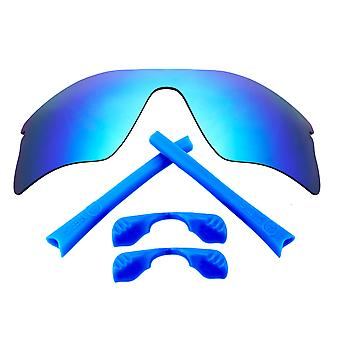 SeekOptics Replacement Lenses Accessories Kit for Oakley RADAR RANGE Blue & Blue Non-Polarized Polycarbonate UV400