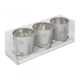 Widdop Gifts Silver Forest Candle Holders | Gifts From Handpicked