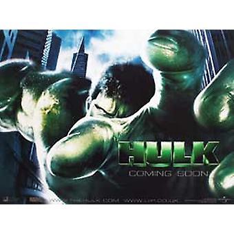 The Hulk (Double Sided Advance) Original Cinema Poster