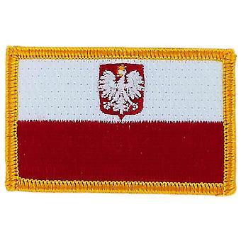 التصحيح Ecusson برودي العلم بولندا النسر بولسكا Thermocollant بلاسون