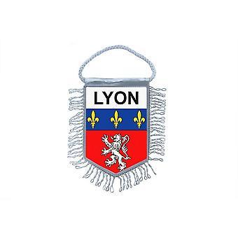 Fanion Mini Flag maa auton koristelu matka muisto Blason Ranska Lyon Gones