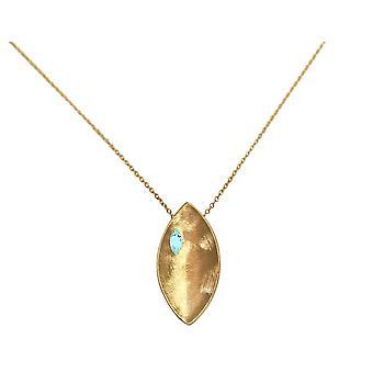 GEMSHINE pingente colar sólido 925 prata, banhado a ouro ou rosa gemstone azul