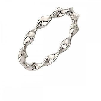 Elements Silver Twist Ring R3579