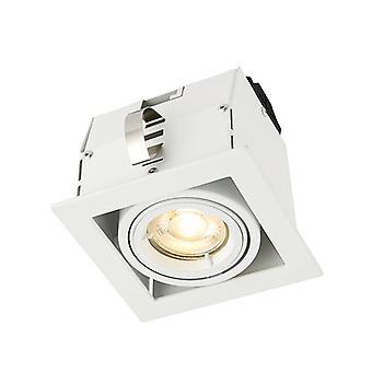 Saxby Lighting Garrix yhden upotettava valo Matt valkoinen 78533