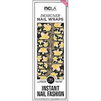 ncLA Los Angeles Instant Nail Fashion Designer Nail Wraps - Floral Elegance (26 Wraps)