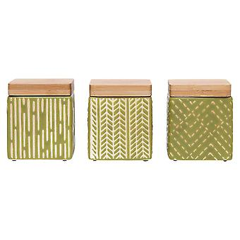Ladelle Biotic Sage Mini Canisters Set of 3