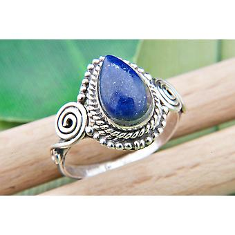 Lapis Lazuli Ring 925 Silver Sterling Silver Silver Women's Ring Blue (IRM 73-06)