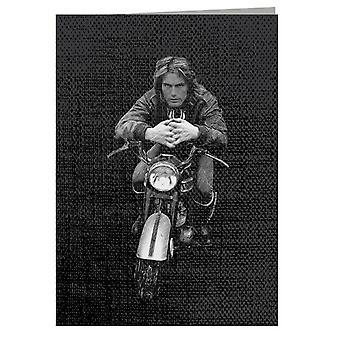 TV Times Adam Faith Motorcycle 1971 Greeting Card