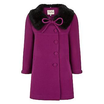 Darling vrouwen ' s Vanessa bont kraag jas