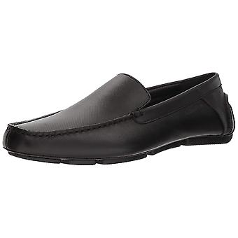 Calvin Klein Mens Miguel Leather Square Toe Slip On Shoes