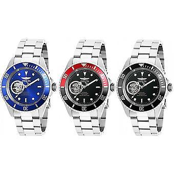 Invicta Men's Pro Diver Black Dial Steel Bracelet Automatic Dive Watch