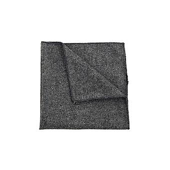Dobell Mens Light Grey Donegal Tweed Handkerchief