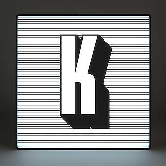 K Alphabet Lightbox