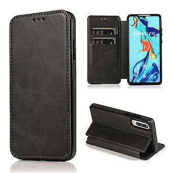 CaseGate phone case case cover for Huawei P30 case cover - magnetic clasp, stand function and card compartment