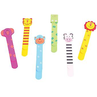 Bigjigs Toys Wooden Bookmarks (Pack of 6) Children's Stationery Educational