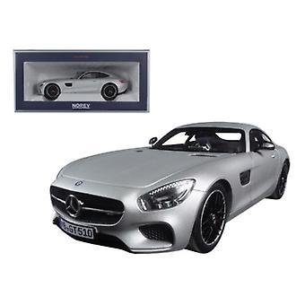 2015 Mercedes AMG GT Silver 1/18 Diecast Model Car par Norev