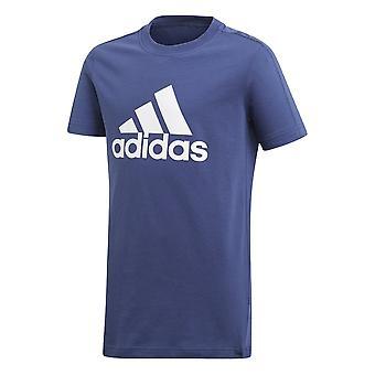 Adidas pojkar Essentials logo tee Indigo