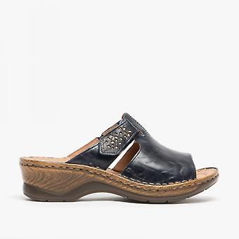 Josef Seibel Catalonia 32 Ladies Leather Mule Sandals Ocean