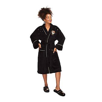 Harry Potter Bathrobe Kawaii woven badge new Official Womens Black Fleece
