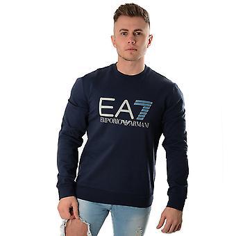 EA7 Emporio Armani Ea7 | Emporio Armani 3gpm13 Pj05z Large Logo Sweat Top
