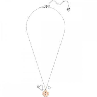 Swarovski Zodiac Rose Gold Tone Plaqué avec White Crystal Libra Pendant