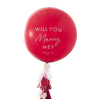 Will You Marry Me Confetti Balloon Kit, Valentines Day Gift, Leap Year Kit