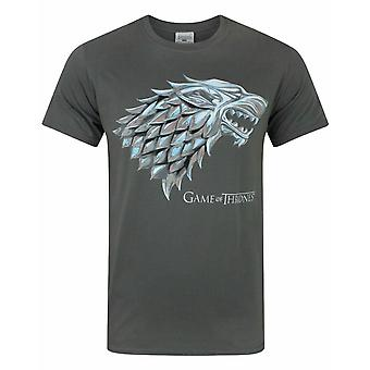 Game Of Thrones Metallic Stark Direwolf Men-apos;s T-Shirt