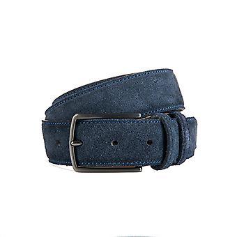 Beautiful Blue Suede Men's Belt