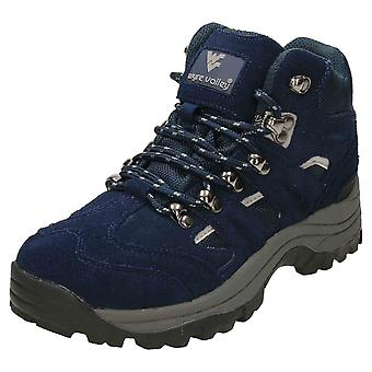 Wyre Valley Waterproof Walking Ankle Boots Suede Leather Blue