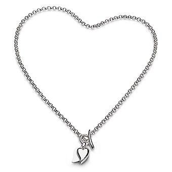 Kit Heath Desire Love Duet Heart 16-quot; T-Bar Necklace 90507RP