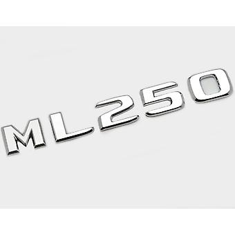 Zilver Chrome ML250 Flat Mercedes Benz Auto Model Numbers Letters Badge Emblem For M Class W163 W164 W166 AMG