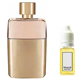 Gucci Guilty For Her Inspired Fragrance 100ml Refill Essential Diffuser Oil Burner Scent Diffuser