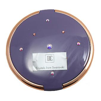 Danielle 8cm Slim Compact with Swarovski Elements 5x Mag Mirror - Mauve