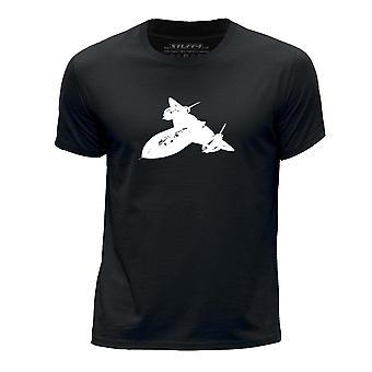 STUFF4 Boy's Round Neck T-Shirt/Aeroplane / SR-71 Blackbird/Black