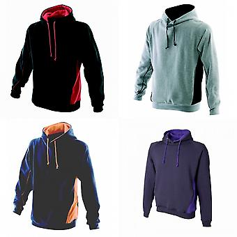 Finden & Hales Mens Pull Over Hooded Sweatshirt / Hoodie