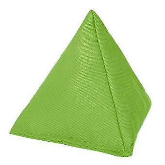 Gardenista | Duurzame katoenen stof | Driehoeksvormig | Jongleren Throw Bean Bag | Tuinspelen | PE en Sport | Binnen en buiten | Lime