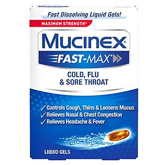 Mucinex rapide-max, rhume, grippe, mal de gorge, & gels liquides, 16 ch