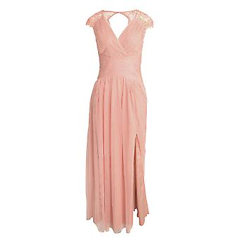 Little Mistress Womens/Ladies verzameld parel Tulle Maxi jurk