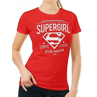 Supergirl Womens/Ladies Better Than Ever Fitted T-Shirt
