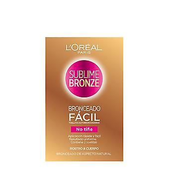 Selbst-bronzing Towelettes Sublime Bronze L'Oreal Make Up (2 uds)