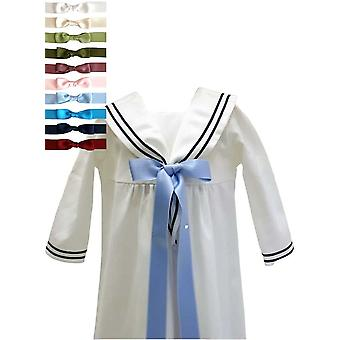 Christening Gown With 10 Choices Of Bow, In Sailor Style. Grace Of Sweden