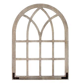 苦しんでいる木のフレーム窓アーチ壁装飾